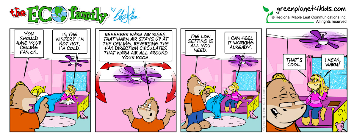 Ceiling fan in winter eco family comic strip green planet 4 kids ceiling fan in winter eco family comic strip mozeypictures Gallery